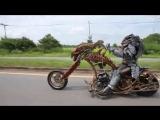 Real Life Predator on Motorbike