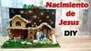 Cómo Hacer un belén o un pesebre y el nacimiento de Jesús Con cartón reciclado