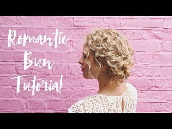 Quick romantic hairstyle tutorial for curly hair