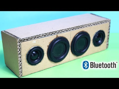 Portable Cardboard Bluetooth Speaker  How to make