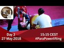 Men's Up to 72kg World Para Powerlifting European Open Championships