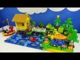Строим из Lego Duplo, Build and Play toys Lego, играем с Лего Дупло - house on the water