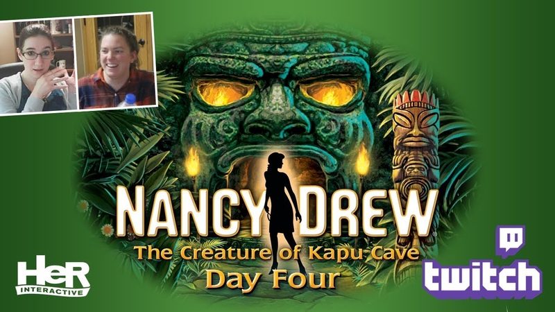 Nancy Drew The Creature of Kapu Cave [Day Four Twitch] | HeR Interactive