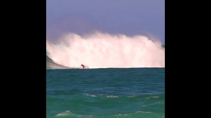 Серфинг, океан, большие волны