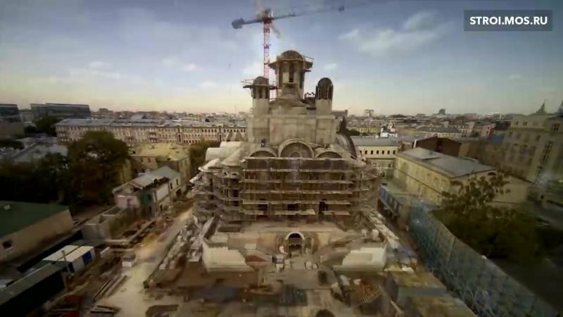 Храм в центре Москвы - timelapse строительства