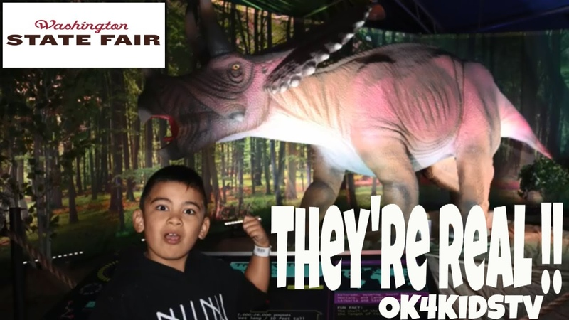 Washington State Fair 2018 - Discover The Dinosaurs Exhibit Ok4kidstv video 195