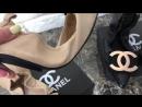 Балетки Chanel натуральная кожа с лого