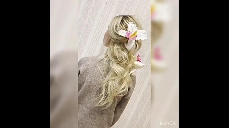 Текстурная греческая коса для Светочки😍💕💥