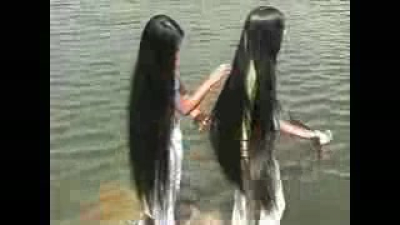 Ltress commission - Hong and Van's knee length silky hair by the lake_low.mp4