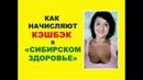 Как начисляют кэшбэк в Сибирском Здоровье