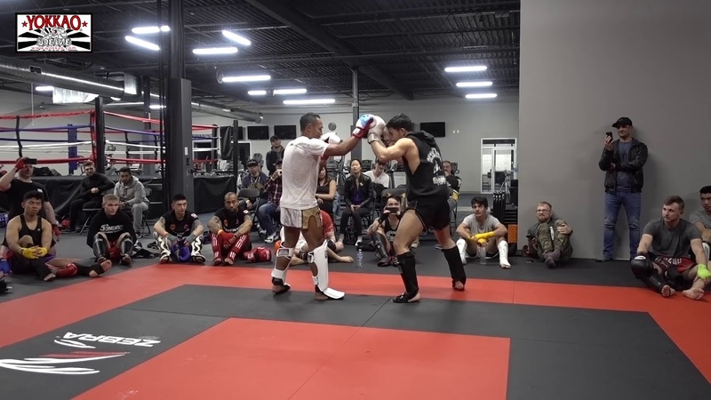 Saenchai sparring in Canada