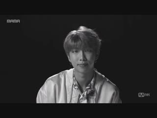 [2018MAMA] LikeMAMA LikeBTS RM - - Adding sincerity to music and sharing the stories this