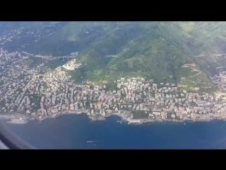 Пасадка самолета в Генуе