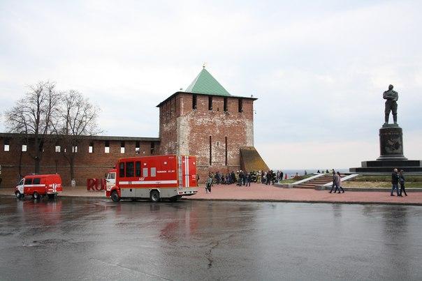 Демонстрация пожарных умений  30 апреля 2018