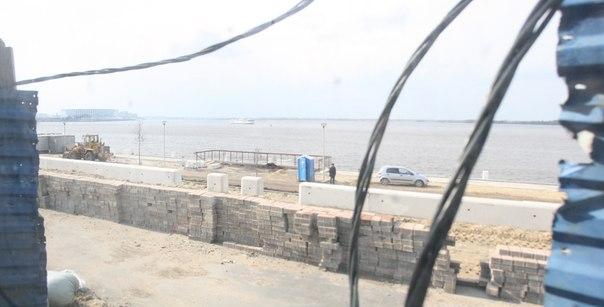 Ход строительства новой набережной  30 апреля 2018