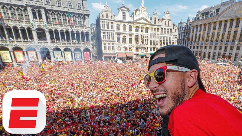 Eden Hazard leads Belgium's incredible 2018 World Cup celebrations