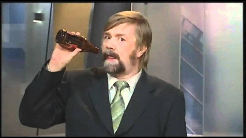 13.10 YLE News - Kimmo Wilska Drinking Beer