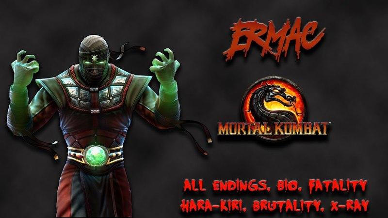 Mortal Kombat - All Fatality, Bio, Ending - Ermac