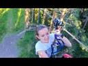 ВЛОГ 200 метровый зиплайн Я лечу Такая скорость Веревочный парк Орех Norway Park 30 июля 2018