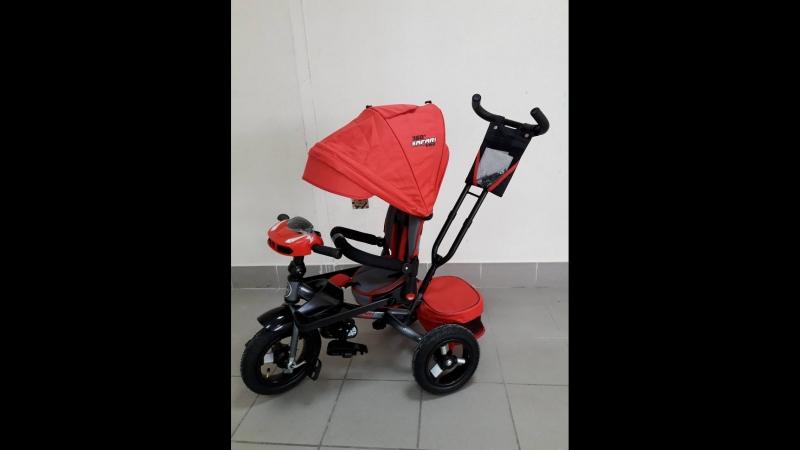 Велосипед GT9479 SAFARI TRIKE 360 3-кол надув.кол.12/10 со светом и музыкой, пов.сиденье, красный, с пультом, 1017425