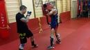 Thaiboxing Работа на падах