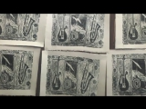 Printing of the Morphine triptych by Dana Colley