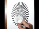 Черная дыра - Анаморфная иллюзия