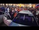 Болельщики беснуются на улицах после матча с Испанией