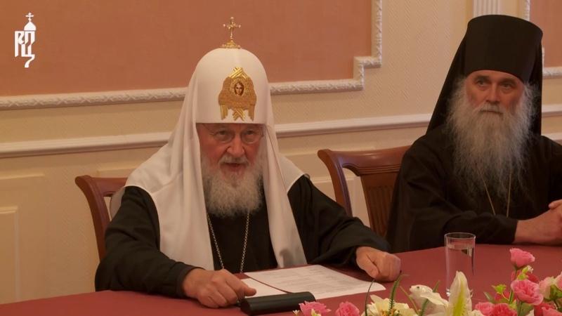 На Новой Земле Патриарх Кирилл встретился с представителями Министерства обороны России