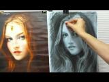 Как нарисовать ПОРТРЕТ УГЛЁМ! Учимся рисовать ПОРТРЕТ! Как Научиться РИСОВАТЬ