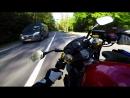 На мотоцикле вдоль финского минута спокойной езды с красивом видом