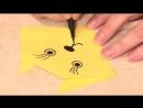 Простая поделка оригами Кот