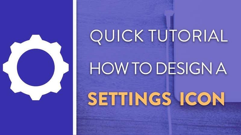 DAY 5 : How To Design A Settings Icon in Illustrator   Icon Design Week