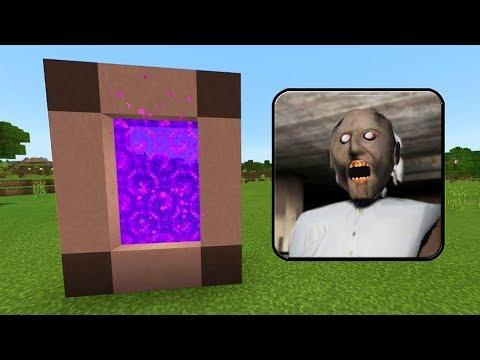 Как Сделать Портал в Мир БАБУШКИ ГРЕННИ в Майнкрафт! Прохождение и Троллинг Granny Minecraft Девушка