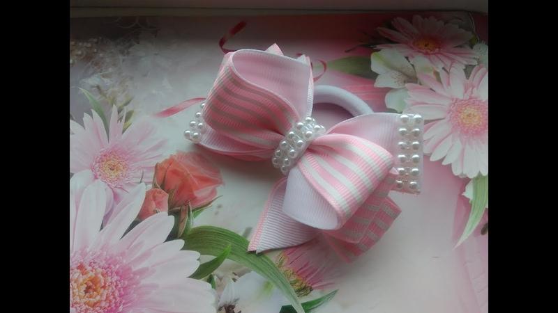 Бантики из репсовых лент 2,5 см МК Канзаши / The bow of REP ribbons 2.5 cm MK Kanzashi