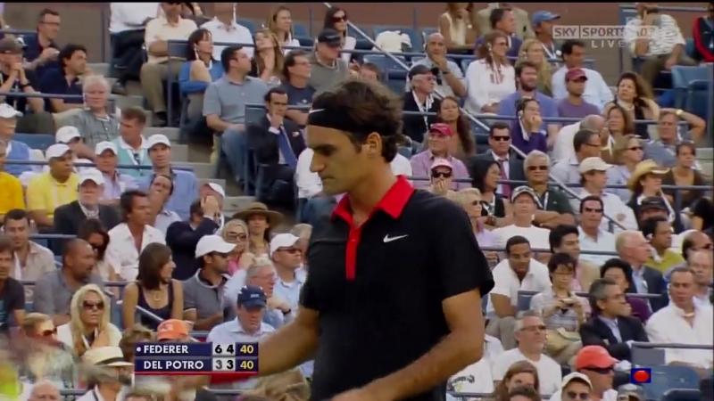 2009 USO F del Potro def Federer, part 1
