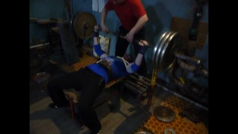 Жим лежа в слинг шопе. 115 кг