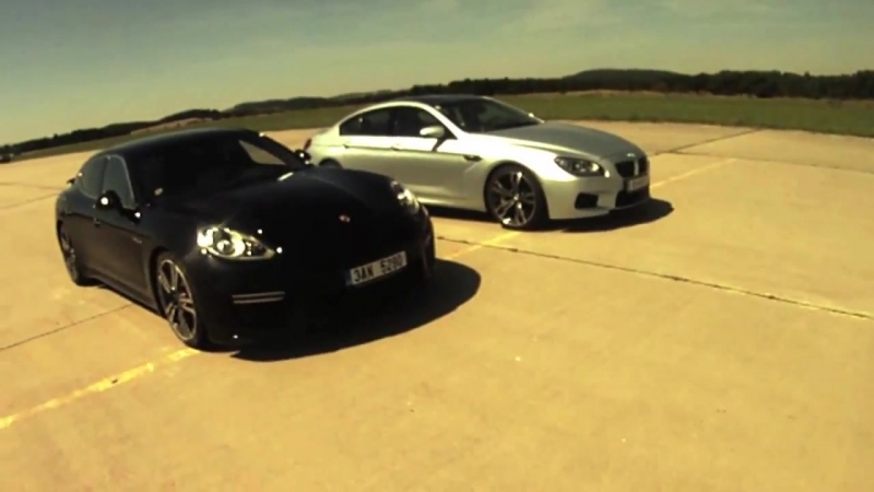 BMW M6 Gran Coupé vs Porsche Panamera Turbo- 0-200 km-h