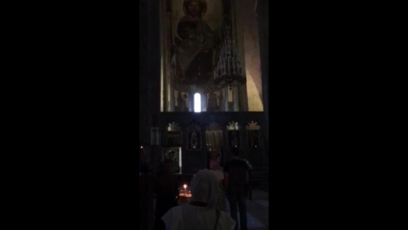 Вечерняя праздничная служба Вознесения Господня в храме г.Мцхета