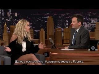 Рита Ора на шоу Джимми Фэллона (31.01.2018) русские субтитры