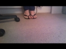Black thong heels lime green nail polish cd feet