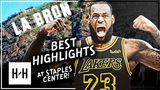 LeBron James BEST Highlights vs Los Angeles Lakers at Staples Center (2015-2018)