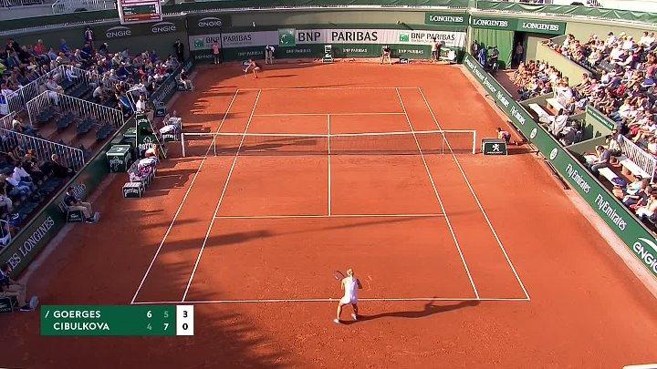 WTA 2018 French Open - 1st Round - Julia Görges vs Dominika Cibulková (29-05-2018)