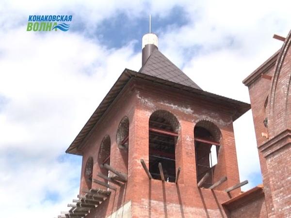 С начала лета возобновлены работы по строительству святыни на Волге