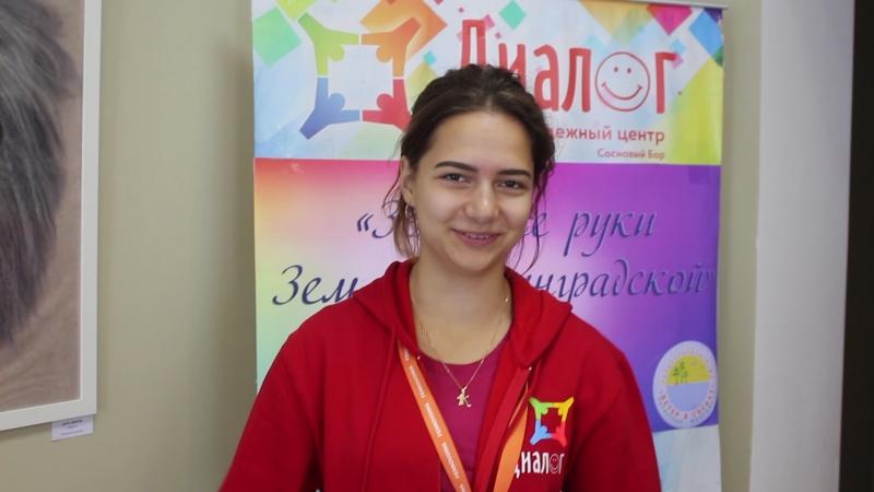 Доброволец Фестиваля Ветер в соснах Ксения Гладнева