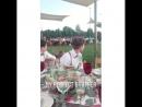 Крис на свадьбе Кристины