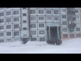 #ХэлоуВоркута | Воркута пурга 18 апреля 2018 | Raininggman