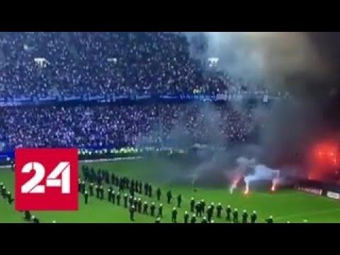 Гамбургские фанаты устроили погром прямо на матче с Боруссией Россия 24