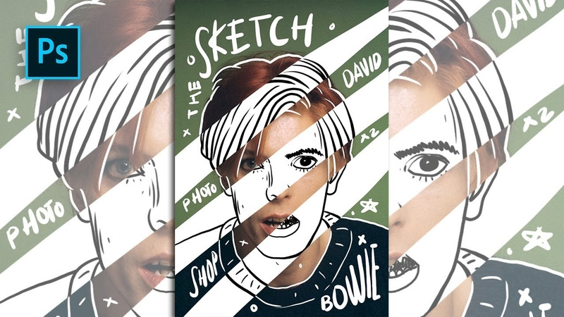 How to Create Sketch Doodle Portrait Effect in Photoshop - Photoshop Tutorials