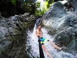 Slip and Slide Waterfall! 35 feet high in 4K! DEVINSUPERTRAMP